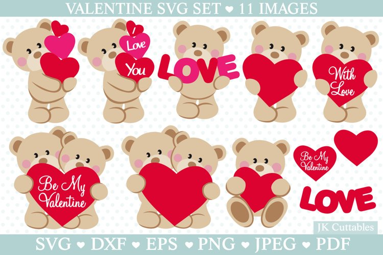 Valentine SVG cut files for crafters