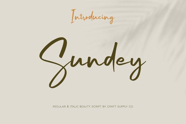 Sundey - Beauty Script Font example image 1