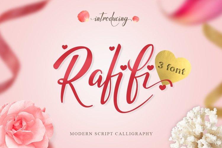 Web Font Rafifi Script example image 1