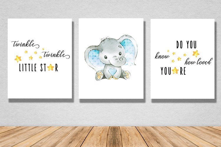 Twinkle little star wall print example image 1