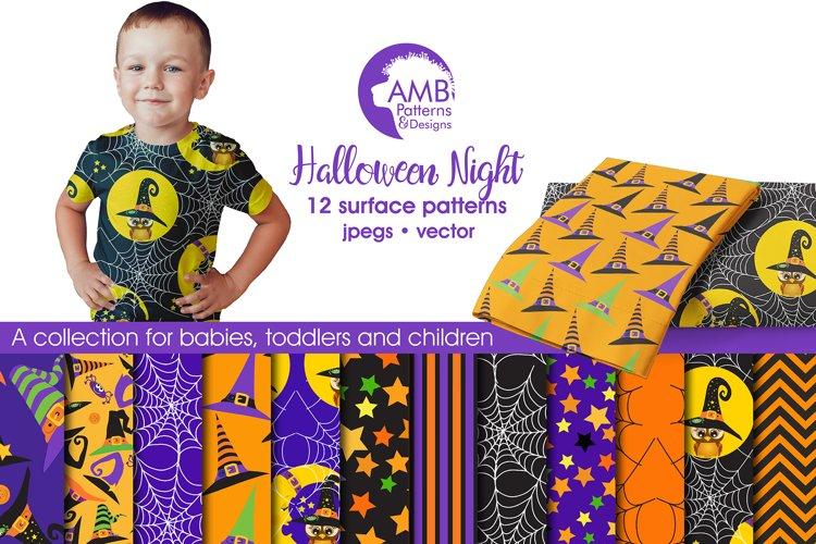 Halloween Night Patterns, Halloween Papers, AMB-995