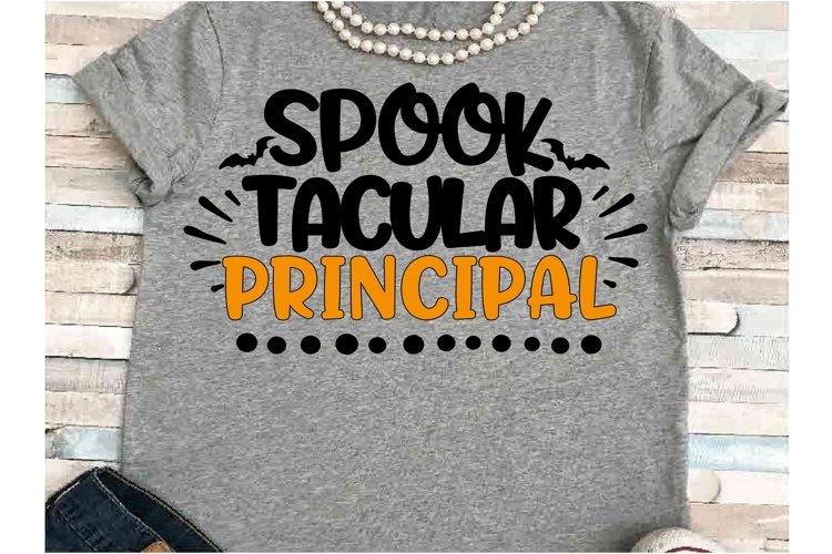 SVG DXF JPEG Silhouette Cricut Halloween principal teach example image 1