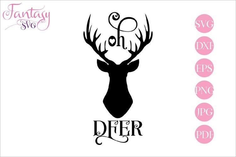 Oh Deer - SVG Cut File