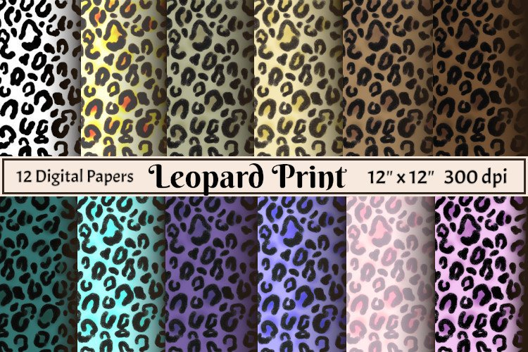 Leopard print digital papers example image 1