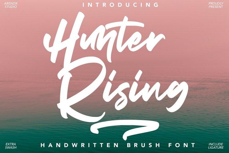 Hunter Rising - Brush Font example image 1
