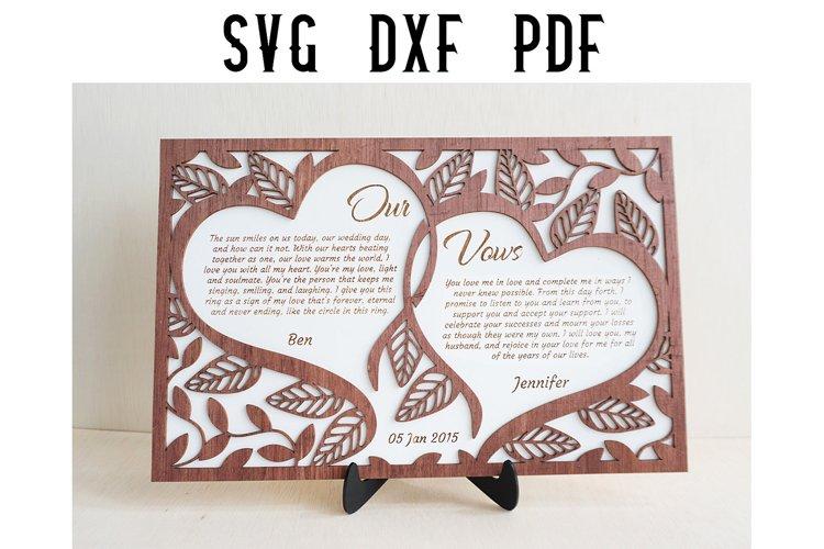 Customizable Floral Wedding Vows svg Cut File- SVG/DXF/PDF