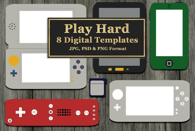 Gaming and Mobile Devices Digital Templates example image 1