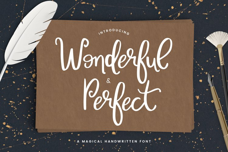 Wonderful & Perfect - A Script Font example image 1