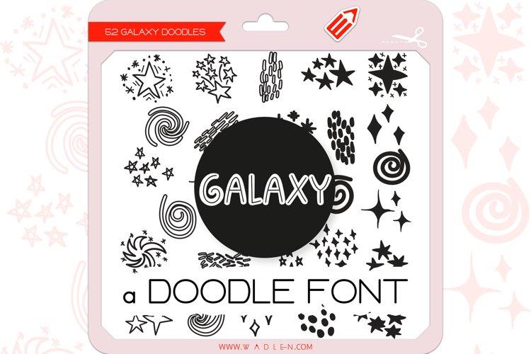 Galaxy Doodles - Dingbats Font example image 1