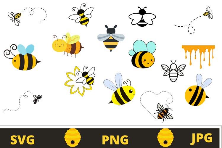 Bee svg bundle | Bumble bee svg example image 1