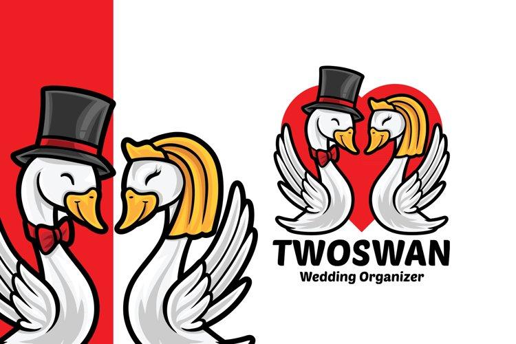 Swan Wedding Organizer Logo Template