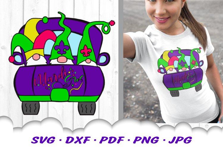 Mardi Gras Truck Gnomes Gnome Sublimation PNG