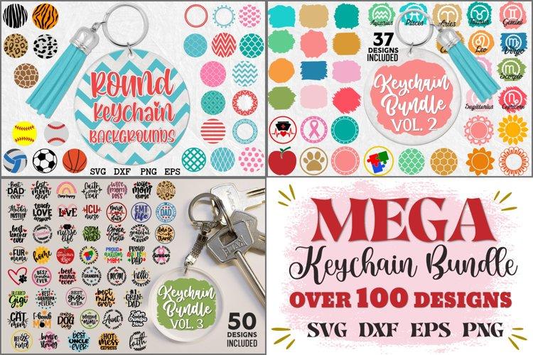 Keychain MEGA Bundle, Keychain Round Patterns, Keychain Svg