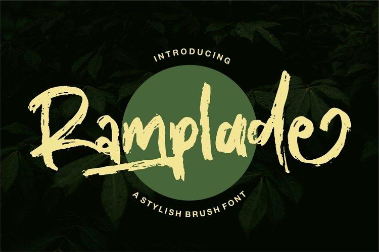 Web Font Ramplade - A Stylish Brush Font example image 1