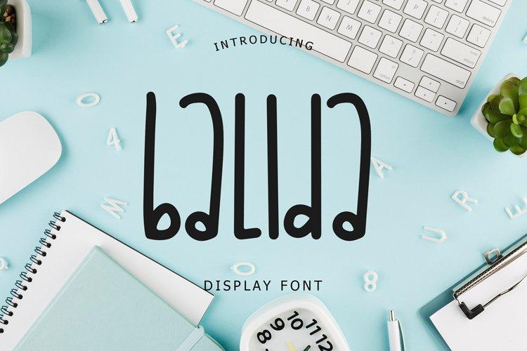 Balida Display Font example image 1