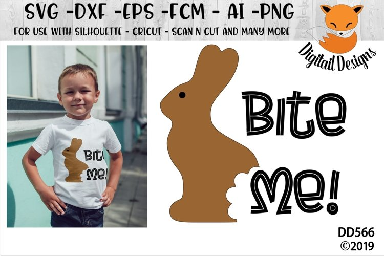 Funny Chocolate Easter Bunny SVG Cut File example image 1