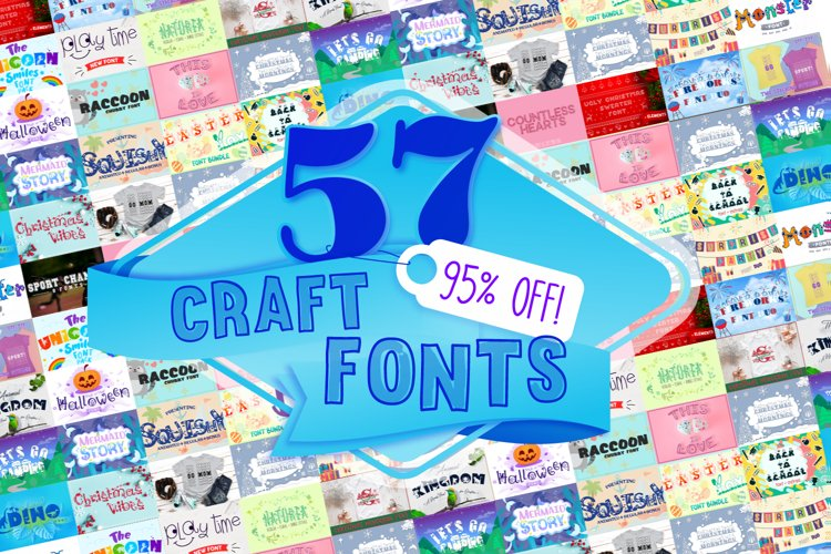 All Shop Fonts Bundle   Cameo and Cricut Craft Fonts Bundle example image 1