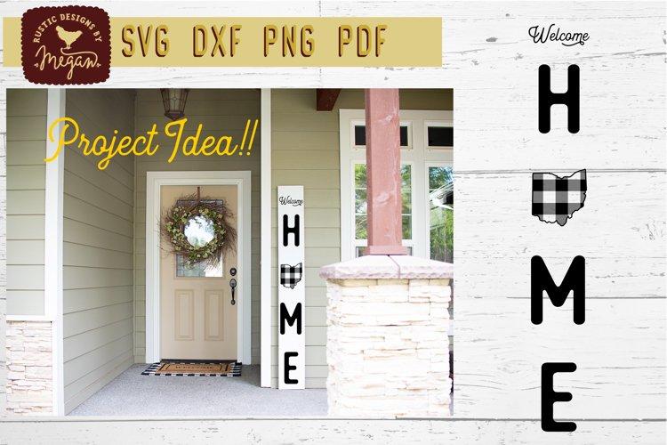 Welcome Home Buffalo Plaid Ohio State Christmas SVG DXF example image 1