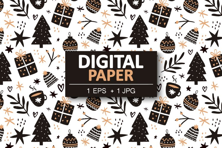Seamless pattern for Christmas example image 1