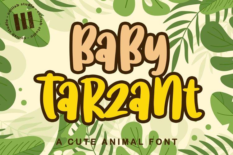 Baby Tarzant - A Cute Animal Font example image 1