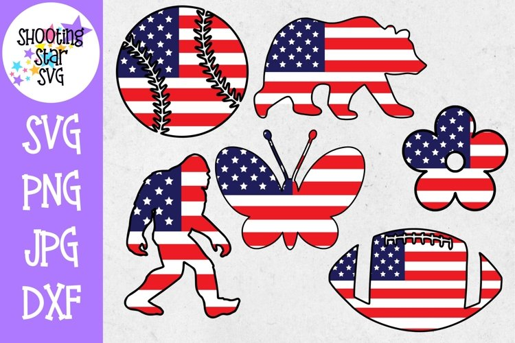 American Flag - Fourth of July SVG Bundle - 20 designs! example image 1