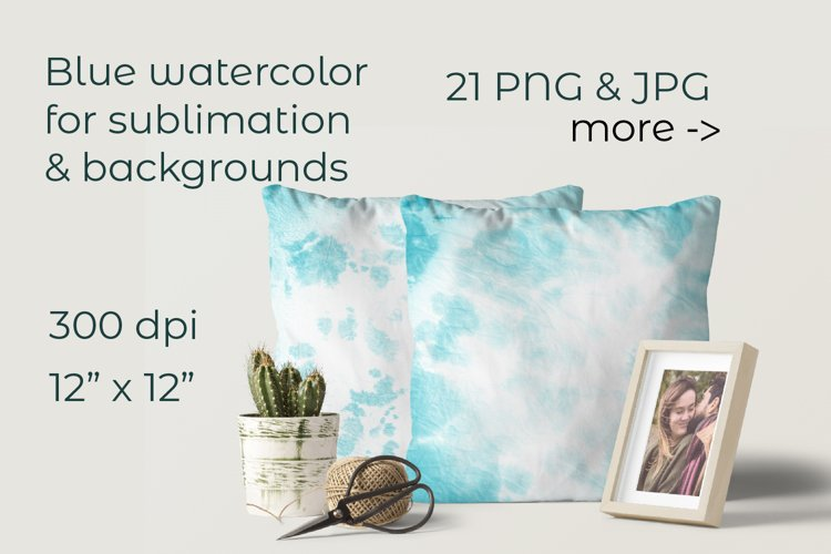 Winter sublimation background. Watercolor digital paper example image 1