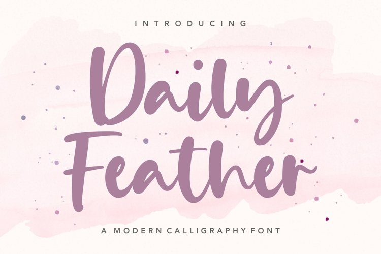 Daily Feather Modern Calligraphy Font example image 1