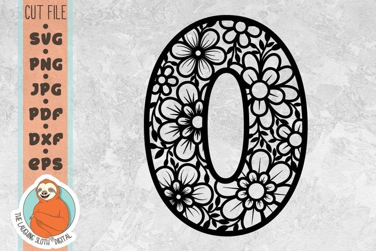 Flower Filled Letter O SVG - Floral Letter Cut File