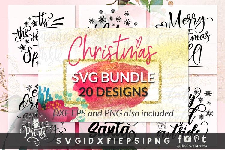 Christmas SVG Bundle SVG DXF PNG EPS example image 1