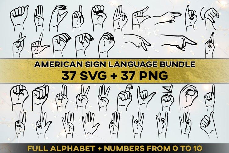 ASL SVG Bundle American Sign Language Letters Sublimation