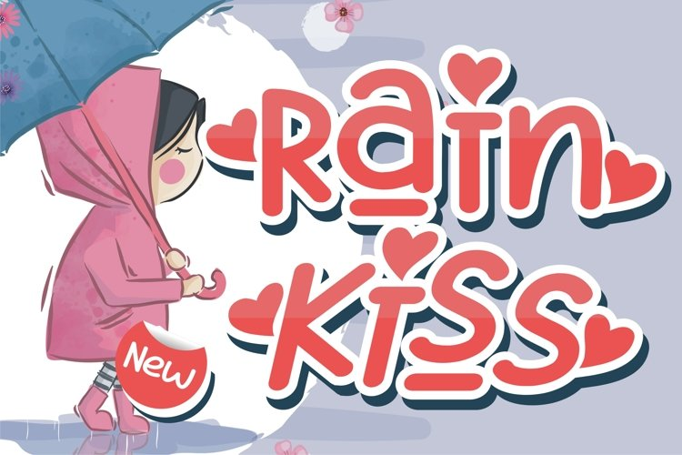 Rain Kiss - Crafting Love Font example image 1