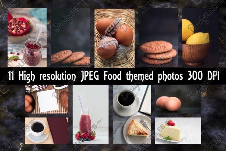 11 Photos Bundle - Food Themed