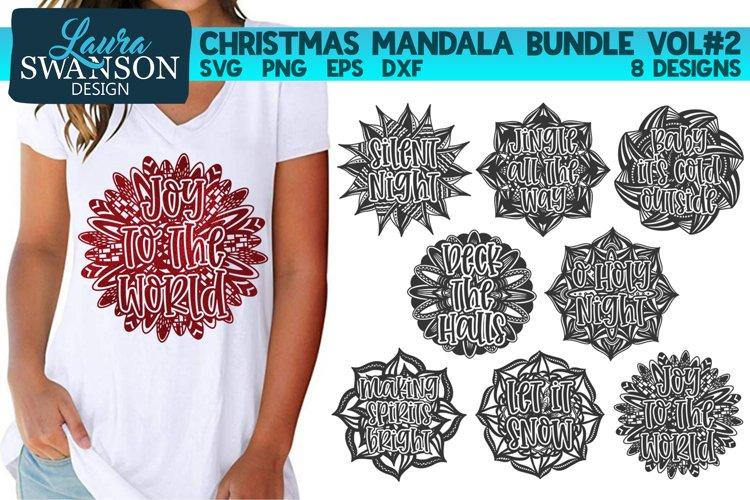 Christmas Mandala Bundle Vol#2 - SVG, PNG, EPS, DXF example image 1