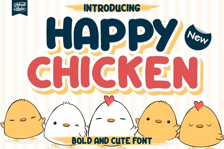 Happy Chicken - Bold and Rounded Font example image 1