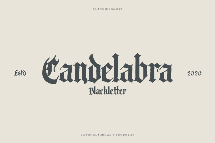 Candelabra Blackletter Font example image 1