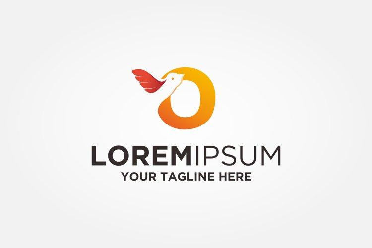 Letter O Bird Logo example image 1