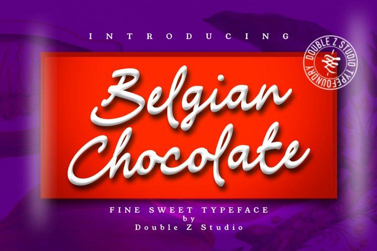 Belgian Chocolate Font example image 1