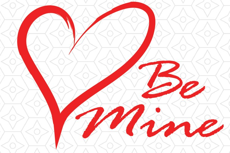Valentines Day Be Mine Decal
