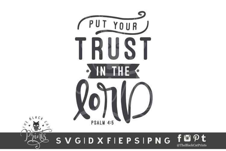 Put Your Trust In The Lord SVG   Bible Verse SVG Cut File