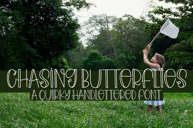 Web Font Chasing Butterflies - A Quirky Hand-Lettered Font example image 1