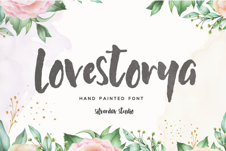 Love Storya - Hand Painted Font example image 1