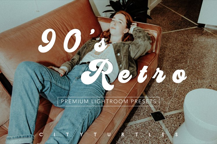 90'S RETRO Moody Vintage Color Lightroom Presets Pack example image 1