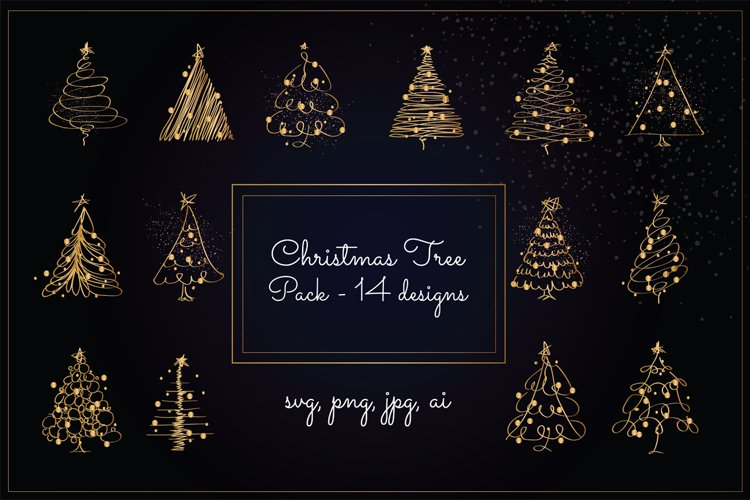 Christmas Tree Pack - Gold Version example image 1