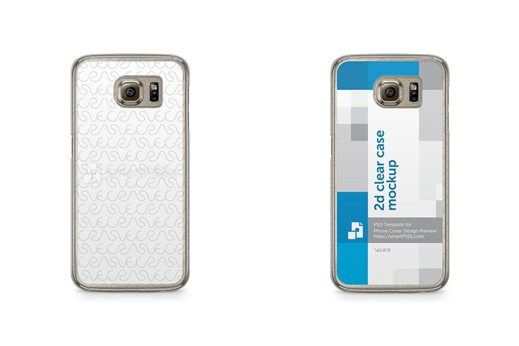 Samsung Galaxy S6 2d Clear Mobile Case Design Mockup 2015 example image 1