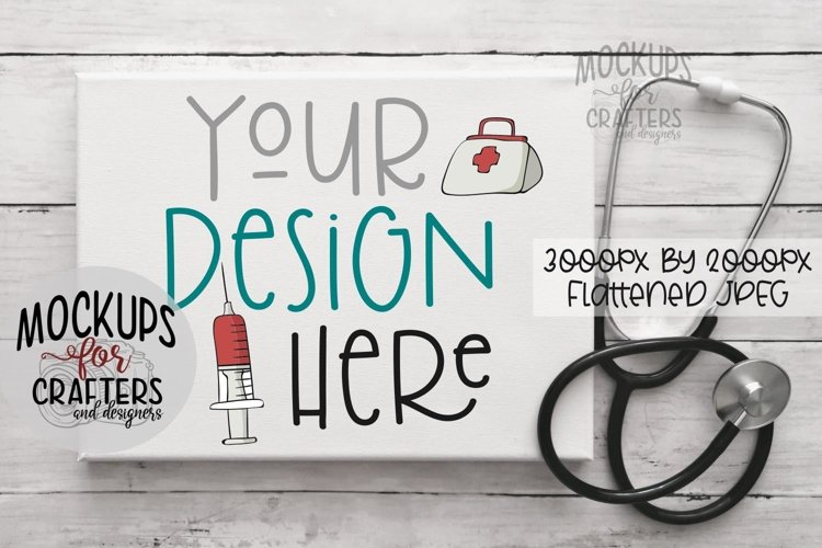 CANVAS, White, Mock-Up, Stethoscope, Healthcare