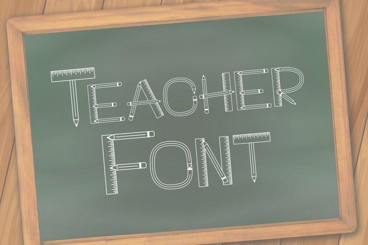 Teacher Monogram Font example image 1