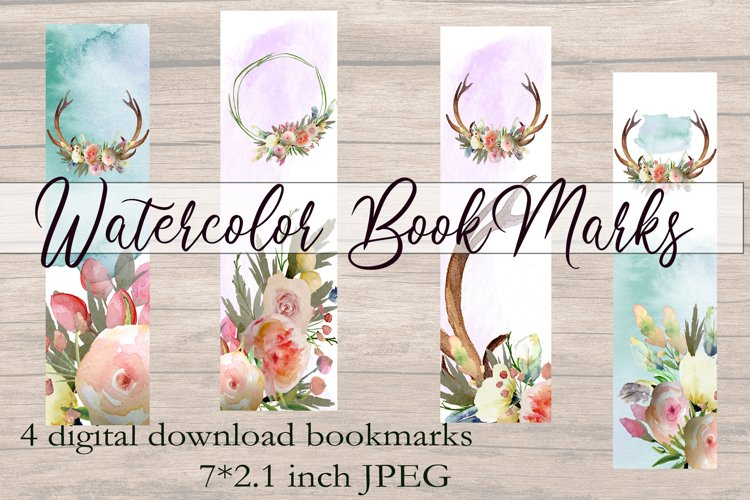 Watercolor Printable Bookmarks BOHO