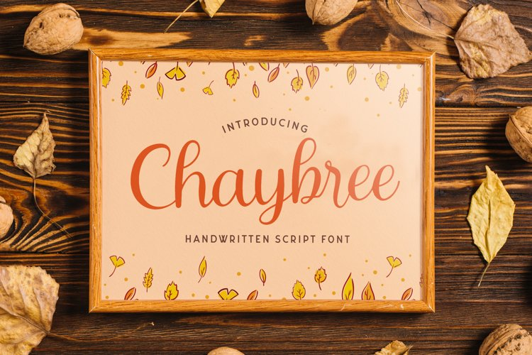 Chaybree - Handwritten Font example image 1