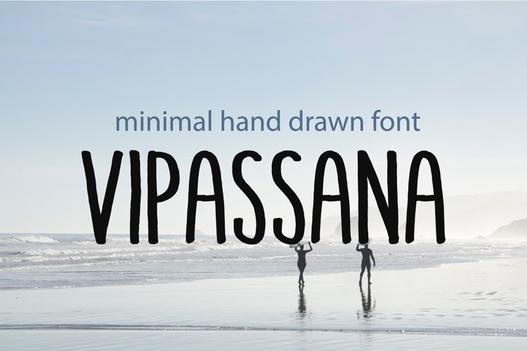 Minimal hand drawn font VIPASSANA example image 1