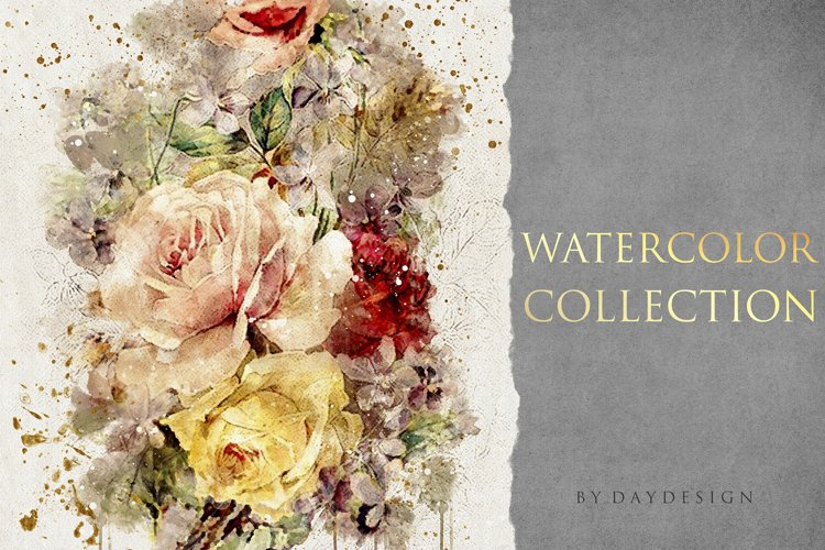 Abstract Watercolor Collection example image 1